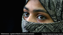 Photo of Veiled woman – symbol of Muslim inclusion or exclusion