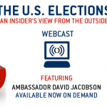 Slide stating: Watch the webcast - US ELECTIONS