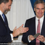 "Photo of Michael Ignatieff as he receives the ""Francisco Cerecedo Journalism Award"" from Prince Felipe of Spain at the Ritz Hotel on November 20, 2012 in Madrid, Spain."
