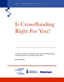 "Cover of India Innovation Institute paper ""Is Crowdfunding Right for You?"""