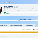 Screen shot of Rouhani Meter website: www.rouhanimeter.com