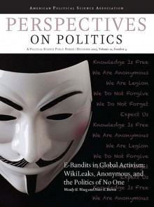 "Cover of ""E-Bandits in Global Activism: WikiLeaks, Anonymous, and the Politics of No One"" - Showing famous Anonymous mask"