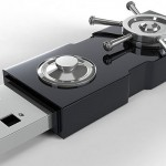 Photo of USB Key with Traditional Bank Vault Lock Mechanism Attached (Photo from: StockMonkeys.com - www.stockmonkeys.com)