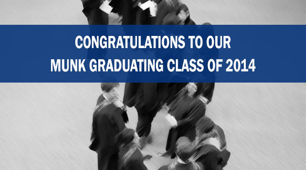 Congratulations to Munk School Graduating Students Class of 2014