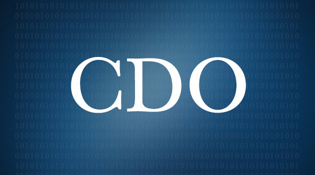 "Letters ""CDO"" bolded on blue background designed with faded binary code in the backdrop"