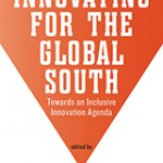 Book cover for Innovating for the Global South (artwork is an orange arrow pointing down)