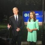 Photo of Anderson Cooper and Seema Yasmin about to go on the air, courtesy of Anderson Cooper Twitter