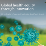 Logo of Global Health Summit, featuring a child blowing on a leaf. Courtesy of the Dalla Lana School of Public Health