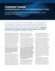 Cover for POWI Columbia River Treaty Bulletin