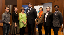 From left: Seoron A'Garous, Nicola Luksic; Heather Johnston, James Janeiro, Wendy Wong, Seva Gunitsky and Jesse Adigew.