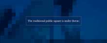 Screentshot from the Digital Public Square website