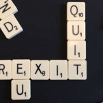 "Lettered tiles spelling out the word ""Brexit"""
