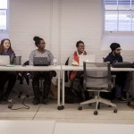 Munk One students discuss their ideas in class