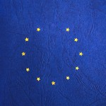 The European Union flag with one star missing