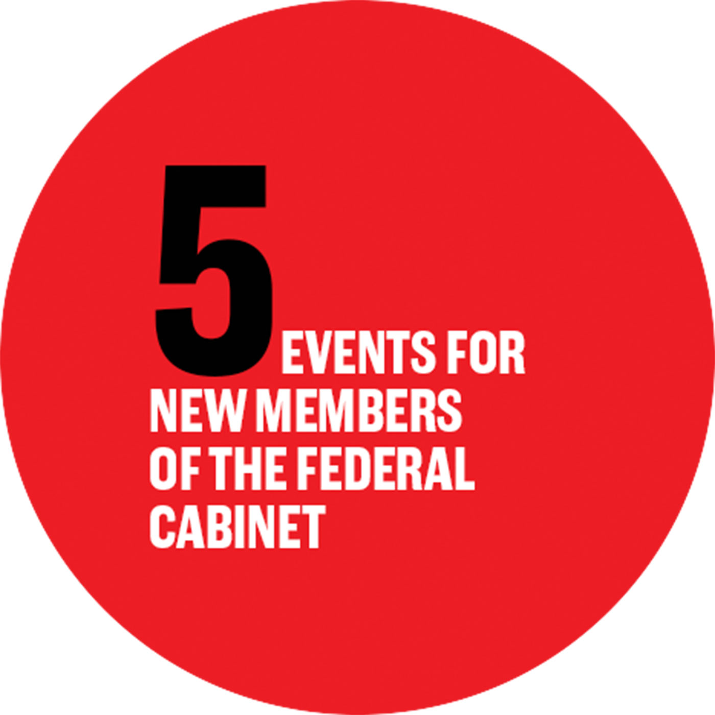 5 events for new members of the federal cabinet