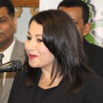 Maryam Monsef delivering a speech at a mosque in Peterborough