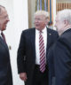 Donald Trump speaks with Russia's Foreign Minister Sergei Lavrov and Russian Ambassador to the U.S. Sergei Kislyak
