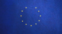 European Union flag with one star missing