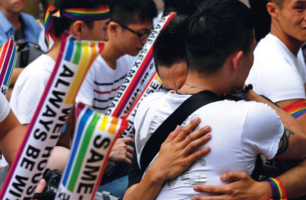 Same Sex Marriage Supporters Taiwan