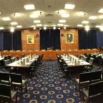Meeting room of the United States House of Representatives on Committee on Appropriations.