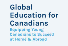 Text-based report cover for Global Education for Canadians