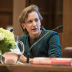 Anne Applebaum speaking at the 2018 Lionel Gelber Prize ceremony