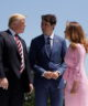 President Trump was greeted by Prime Minister Justin Trudeau of Canada and his wife, Sophie Grégoire Trudeau, after arriving in Canada on June 8 for the Group of 7 summit meeting.