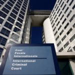 The entrance of the International Criminal Court