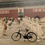 Joseph Wong's bike arked in front of the Forbidden City during his trip to China in 1993.