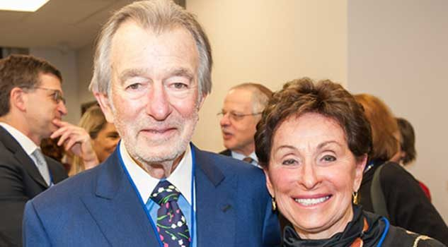 Ralph and Roz Halbert at the opening of the Anne Tanenbaum Centre for Jewish Studies in 2014.