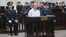 Robert Lloyd Schellenberg at his sentencing in China