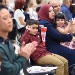 A family from Iraq are sworn in as new Canadians at a citizenship ceremony at Waterloo Public Library