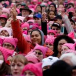 Women gather for a March on Washington