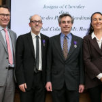 Consul General of France, Mark Trouyet, associate professors Ron Levi and Paul Cohen and Brigitte Proucelle, cultural, education and sciences adviser at the French Consulate