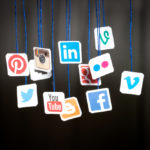 Social media icons for a variety of platforms
