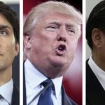 Justin Trudeau, Donald Trump and Xi Jinping