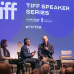 Joe Wong and Alexander Nanau on stage at TIFF 2019 screening