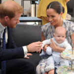 Harry and Meghan with baby