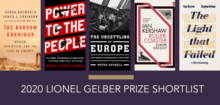 Book covers for Lionel Gelber Prize shortlist