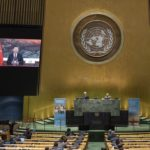 Chinese President Xi Jinping, speaking at the 75th General Assembly of the United Nations