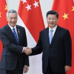 Chinese President Xi Jinping and Singaporean Prime Minister Lee Hsien Loong