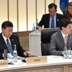 Xi Jinping and Justin Trudeau at the 2019 Group of 20