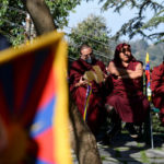 Tibetans living in exile attend an event to mark Tibetan Uprising Day