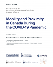 Mobility and Proximity in Canada During the COVID-19 Pandemic