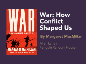 Gelber Prize: War How Conflict Shaped Us