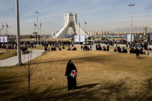 Marking the 42nd anniversary of Iran's Islamic Revolution in Tehran in February.