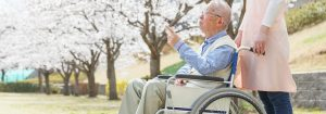 Elderly man in a long-term care home