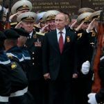 President Vladimir Putin celebrated Russia's annexation of Crimea at a parade in 2014.